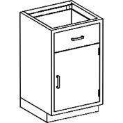 Blickman One Shelf, One Drawer Base Medical Cabinet, 24-1/8 x 22 x 35-3/4
