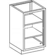Blickman Two Shelf Base Medical Cabinet, 18-1/8 x 22 x 35-3/4