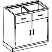 Blickman One Shelf, Two Drawer Base Medical Cabinet, 35 x 22 x 35-3/4