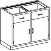 Blickman One Shelf, Two Drawer Base Medical Cabinet, 47 x 22 x 35-3/4