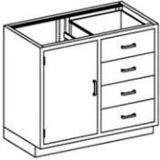Blickman One Shelf, Nine Drawer Base Medical Cabinet 47 x 22 x 35-3/4