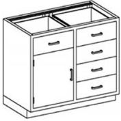 Blickman One Shelf, Five Drawer Base Medical Cabinet 47 x 22 x 35-3/4