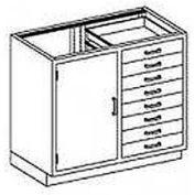 Blickman One Shelf, Four Drawer Base Medical Cabinet 47 x 22 x 35-3/4