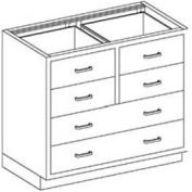 Blickman Six Drawer Base Medical Cabinet 47  x22 x 35-3/4