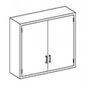 """Blickman B35MS Stainless Steel Wall Cabinet with Double Solid Doors, 2 Shelves, 35""""W x 13""""D x 36""""H"""