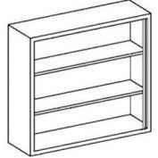 Blickman 35x13x36 2 Shelf, Open-Style Wall Medical Cabinet