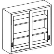 Blickman 35x13x30 2 Shelf, Glass Sliding Door Wall Medical Cabinet