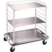 "Blickman OCC3 Open Case Cart with Solid Top and Shelf, 42""L x 29""W x 40-1/4""H"