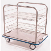 "Blickman OCC4 Open Case Cart with Two Wire Shelves, 42""L x 29""W x 40-1/4""H"