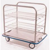 "Blickman OCC4 Open Case Cart with 2 Wire Shelves, 42""L x 29""W x 40-1/4""H"