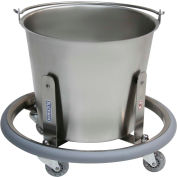 Blickman 7766SS 13-Quart Lenox Kick Bucket with Frame, Stainless Steel