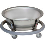 Blickman 8766SS Stainless Steel Round Sponge Receptacle with 8.5 Quart Basin