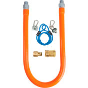 """BK Resources 1/2"""" x 36"""" Commercial Gas Hose Kit CSA and ANSI Approved, BKG-GHC-5036-SCK2"""