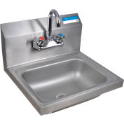 "BK Resources 14""X10""X5"" Deep Bowl W/Drain, Faucet & Mounting Hardware"