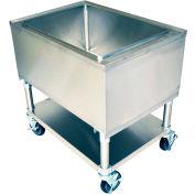 "BK Resources MIB-2421 Mobile Ice Bin w/Undershelf-24""Wx21""D Stainless Steel"