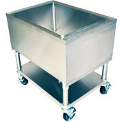 "BK Resources MIB-3021 Mobile Ice Bin w/Undershelf-30""Wx21""D Stainless Steel"