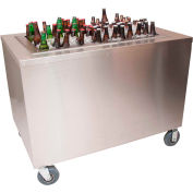 """BK Resources PBC-3060S Portable Beverage Center W/ Two Sliding Doors-60""""Wx30""""D Stainless Steel"""