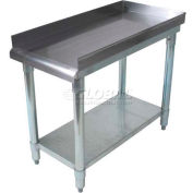 "BK Resources VETS-1530, 16"" x 30"" 18 Ga. Equipment Stand, Galvanized Base"