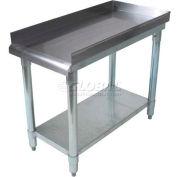 "BK Resources Equipment Stand W/ Undershelf, 18 Ga 430 Stainless Steel Top, 16""W x 30""D"