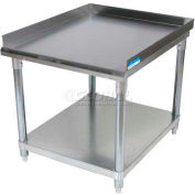 """BK Resources VETS-4830 18 Gauge Equipment Stand 430 Stainless Steel - Galvanized Frame 49""""W x 30""""D"""