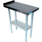 "BK Resources VFTS-1524, 15"" x 24"" 18 Ga. Stainless Filler Table With 1-1/2"" Turnup, Galvanized Base"