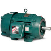 Baldor Severe Duty Motor, CECP3661T, 3 PH, 3 HP, 208-230/460 V, 1755 RPM, TEFC, 182TC Frame