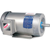 Baldor-Reliance Washdown Motor CESWDM3613T, 3 PH, 5 HP, 3480 RPM, 208-230/460 V, TEFC, 184TC FR