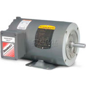 Baldor General Purpose Motor, 230/460 V, 0.25 HP, 1750 RPM, 3 PH, 56C, TENV