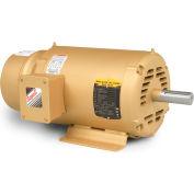 Baldor Brake Motor, EBM3211T, 3 Phase, 208-230/460 Volts, 3 HP, 1765 RPM, OPEN, 182T Frame