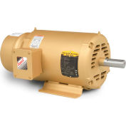 Baldor Brake Motor, EBM3248T, 3 Phase, 208-230/460 Volts, 5 HP, 1750 RPM, OPEN, 184T Frame