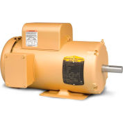 Baldor-Reliance Single Phase Motor, EL3608T, 5 HP, 230 Volts, 3450 RPM, TEFC, 184T Frame