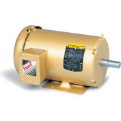 Baldor 3-Phase Motor, EM3615T-5, 5 HP, 1750 RPM, 184T Frame, Foot Mount, TEFC, 575 Volts