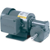Baldor AC Gearmotor, GC3321, .12//.16HP, 67//82RPM, 1PH, TEFC