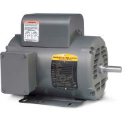 Baldor-Reliance Single Phase Motor, L1410TM, 5 HP, 230 Volts, 1725 RPM, OPEN, 184T Frame