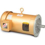 Baldor-Reliance 3-Phase Motor, VEM3610T-5, 3 HP, 3450 RPM, 182TC Frame, C-Face Mount, TEFC,575 Volts