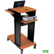 Balt® Xtra Long Presentation Cart Cherry