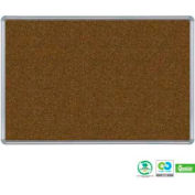 "Balt® Splash-Cork Tackboard with Silver Presidential Trim 36""W x 24""H Blue"