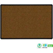 "Balt® Splash-Cork Tackboard with Black Presidential Trim 36""W x 24""H Blue"