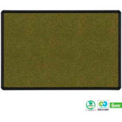 "Balt® Splash-Cork Tackboard with Black Presidential Trim 36""W x 24""H Green"