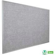 "Balt® Vinyl Add-Cork Tackboard with Aluminum Trim 48""W x 36""H, Gray"