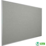 """Balt® Fabric Add-Cork Tackboard with Aluminum Trim 48""""W x 48""""H Granite"""