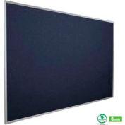 "Balt® Fabric Add-Cork Tackboard with Aluminum Trim 72""W x 48""H Indigo"