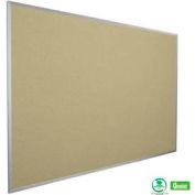 "Balt® Fabric Add-Cork Tackboard with Aluminum Trim 96""W x 48""H Nutmeg"