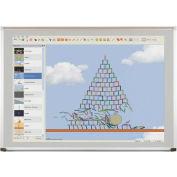 "Evolution Projection Surface - Matte Gray - Deluxe Aluminum Trim - 18""H x 24""W"