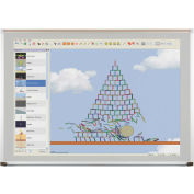 Evolution Projection Surface - Matte Gray - Deluxe Aluminum Trim - 2X3 ft.