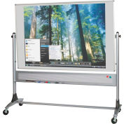 Platinum Reversible - Evolution Projection Surface - Matte Gray - 4X8 ft.