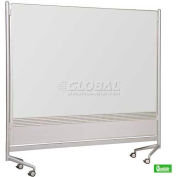 "Balt® D.O.C. Partition Double-Sided Markerboard, Porcelain, 72""W x 72""H"