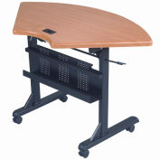Quarter Round Flip Table - Teak