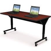 "Brawny Mobile Table 30""D X 72""W Mahogany"