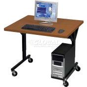"Brawny Mobile Table 30""D X 36""W Med Oak"